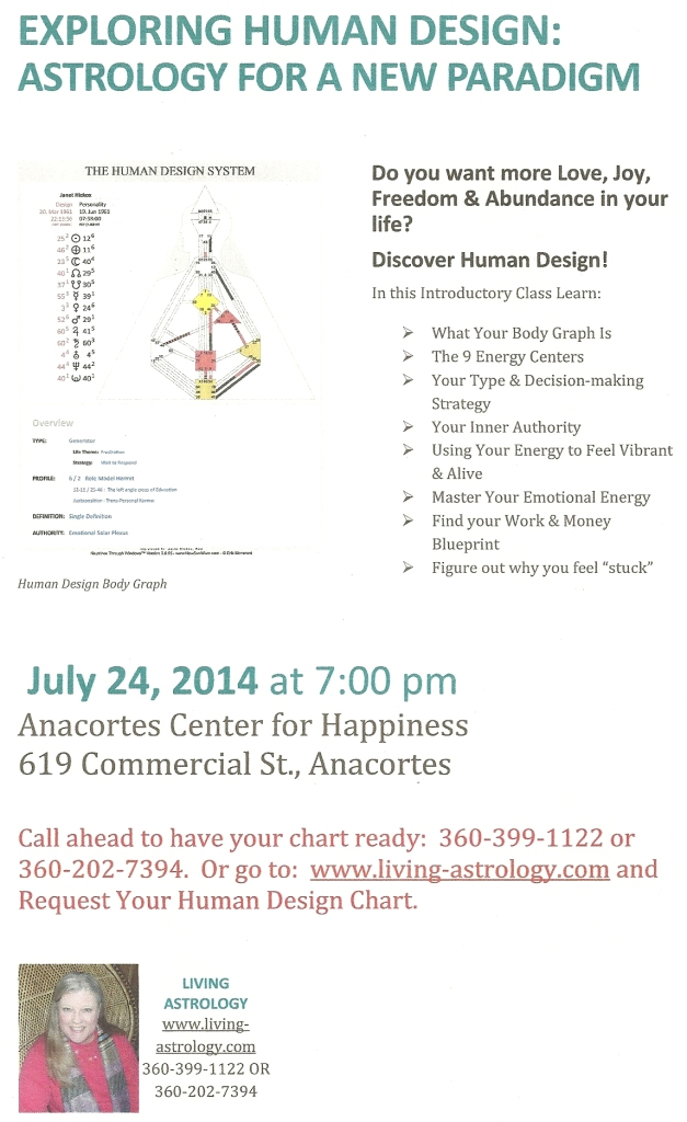 Evening Workshop at Anacortes Center for Happiness